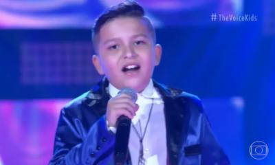 Pietro Rios, que cantou música de Elvis Presley no 'The Voice Kids', celebra comparação com o Rei do Rock